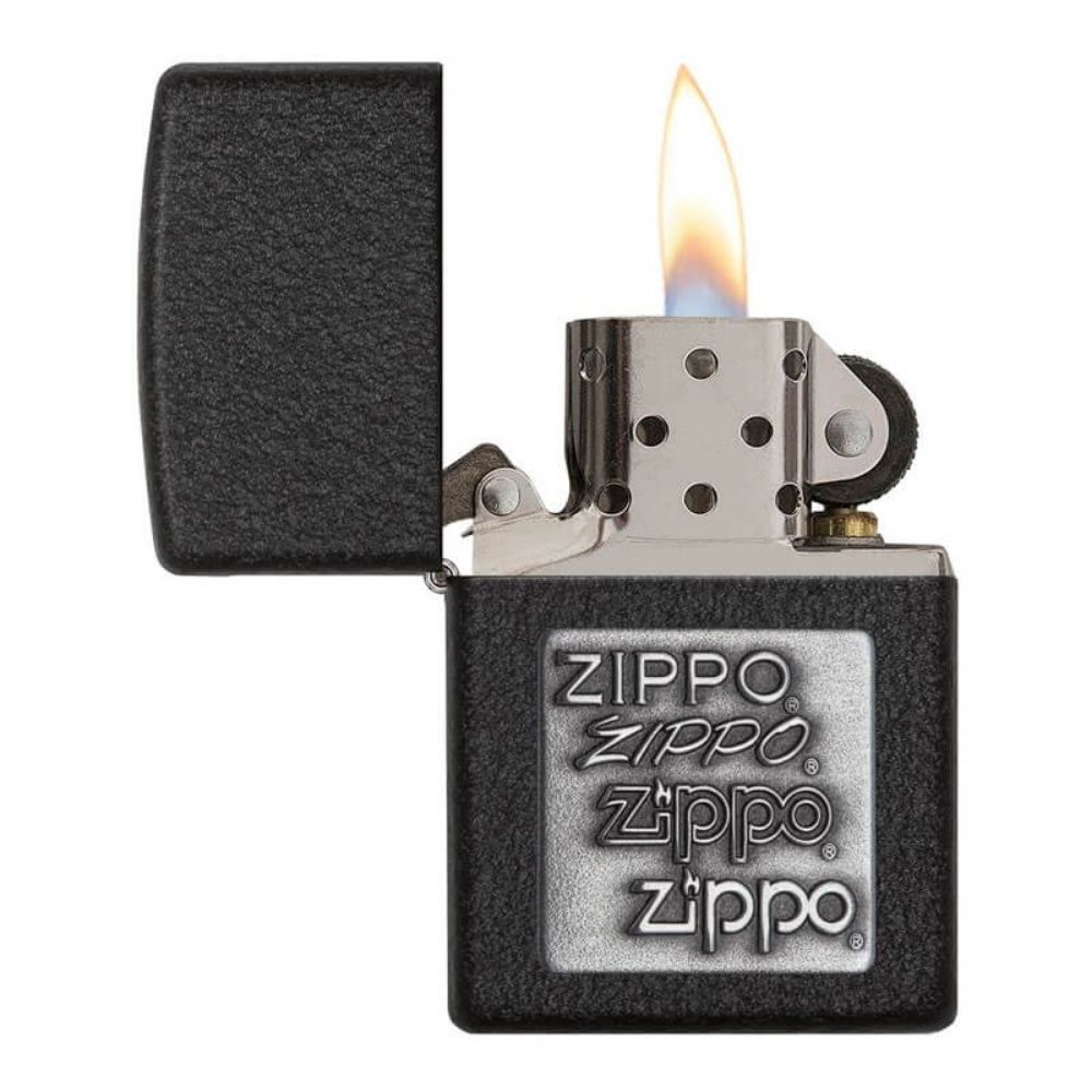 ISQUEIRO ZIPPO BLACK CRACKLE SILVER - COD. 363