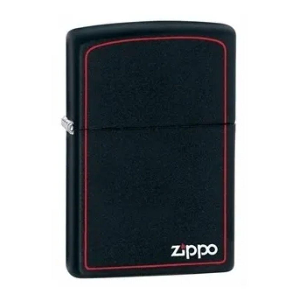 ISQUEIRO ZIPPO CLASSIC BLACK AND RED LOGO - COD. 218ZB