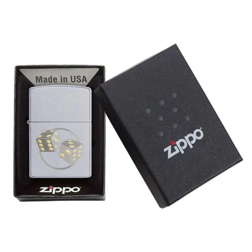 ISQUEIRO ZIPPO DADOS SATIN - COD. 29412