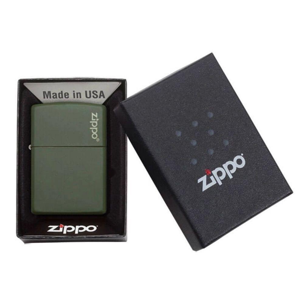 ISQUEIRO ZIPPO GREEN MATTE LOGO - COD. 221ZL
