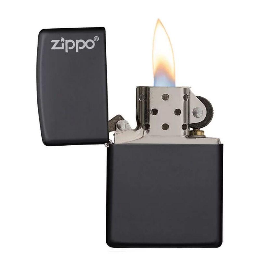 ISQUEIRO ZIPPO LOGO BLACK MATTE - COD. 218ZL