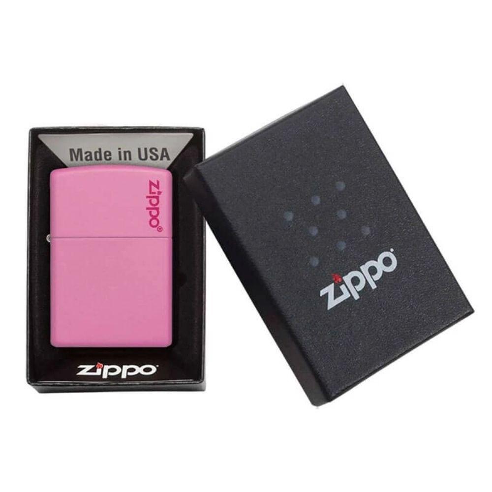 ISQUEIRO ZIPPO LOGO PINK MATTE - COD. 238ZL