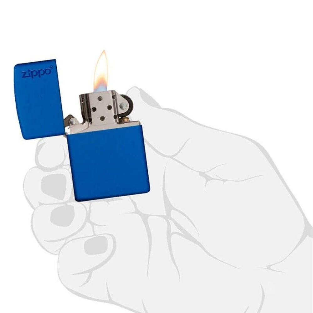 ISQUEIRO ZIPPO LOGO ROYAL BLUE MATTE - COD. 229ZL