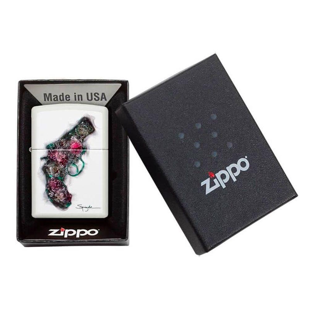 ISQUEIRO ZIPPO SPAZUK FLOWER GUN - COD. 29894