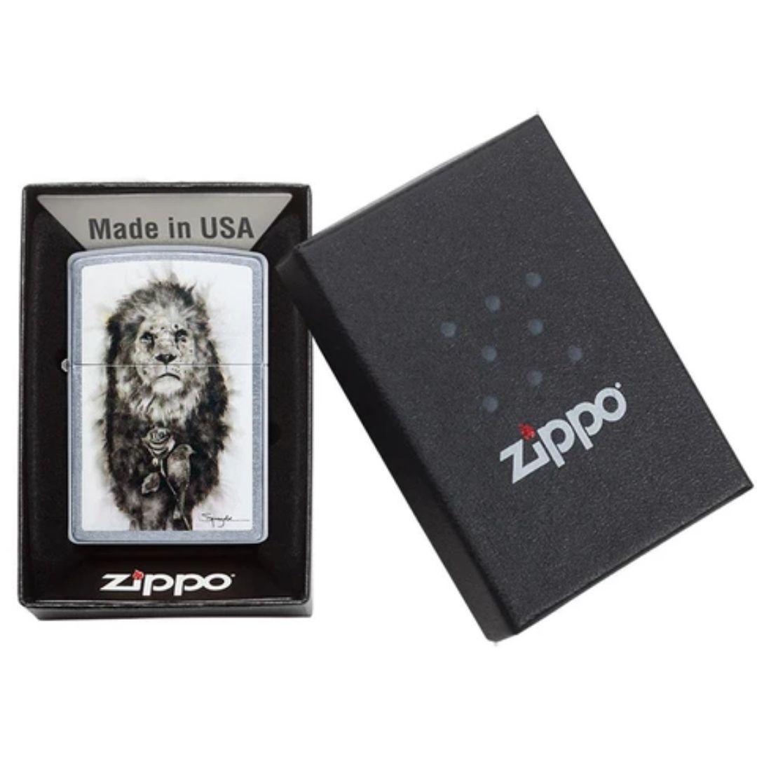 ISQUEIRO ZIPPO SPAZUK LION - COD. 49088