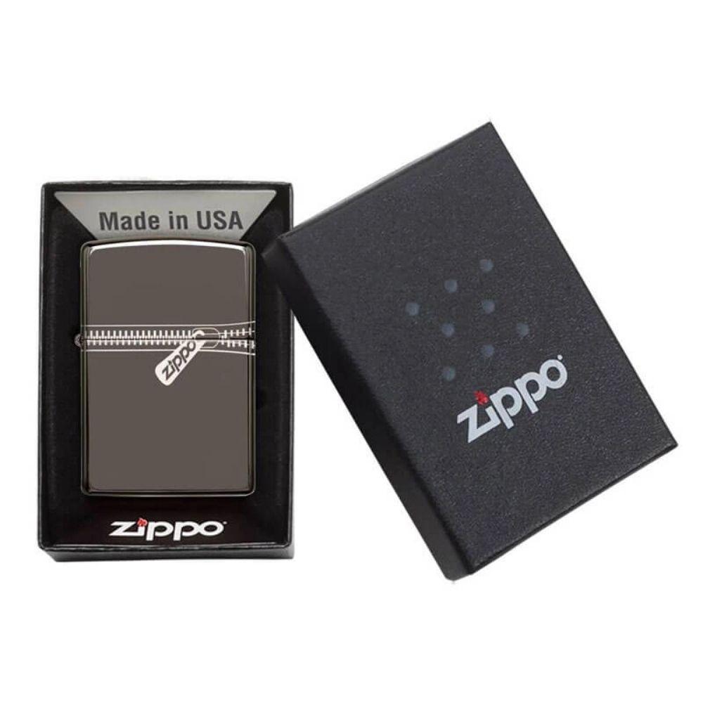 ISQUEIRO ZIPPO ZIPPED BLACK ICE - COD. 21088