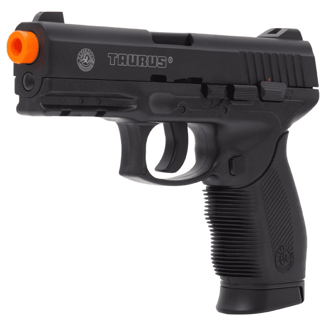 PISTOLA AIRSOFT TAURUS 24/7 A GÁS CO2 SLIDE METAL FIXO - CYBERGUN