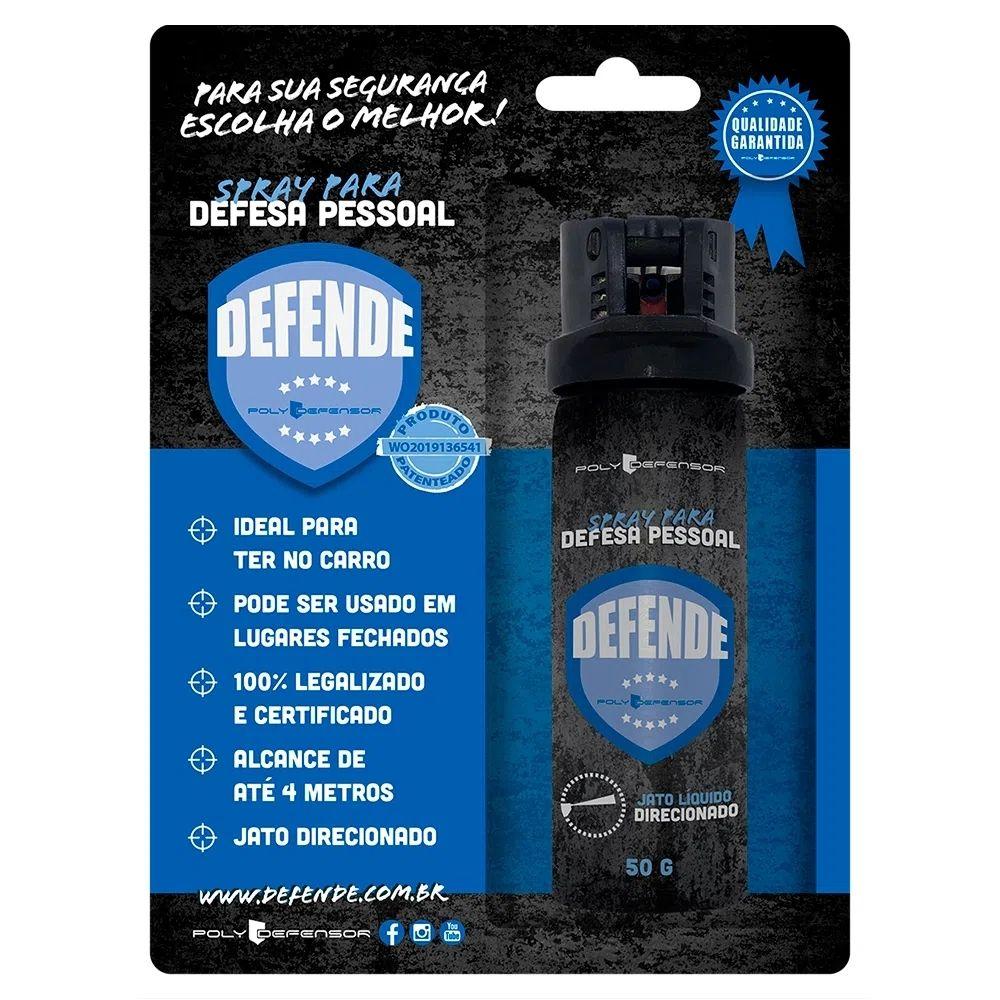 SPRAY PARA DEFESA PESSOAL DEFENDE AZUL (JATO DIRECIONADO) 50GR