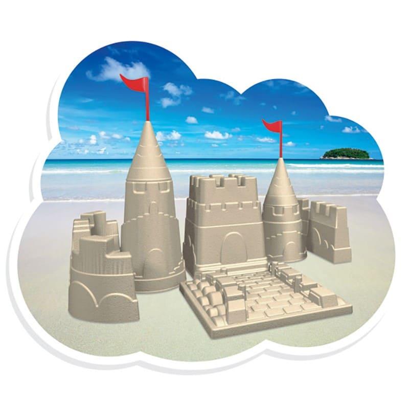 Baldinho Balde de Praia Formato Castelo com Pazinhas e Copinhos Mercotoys