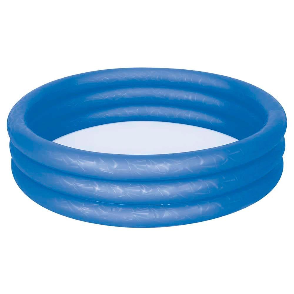 Banheira Piscina Inflável Infantil 130 Litros  Azul Mor