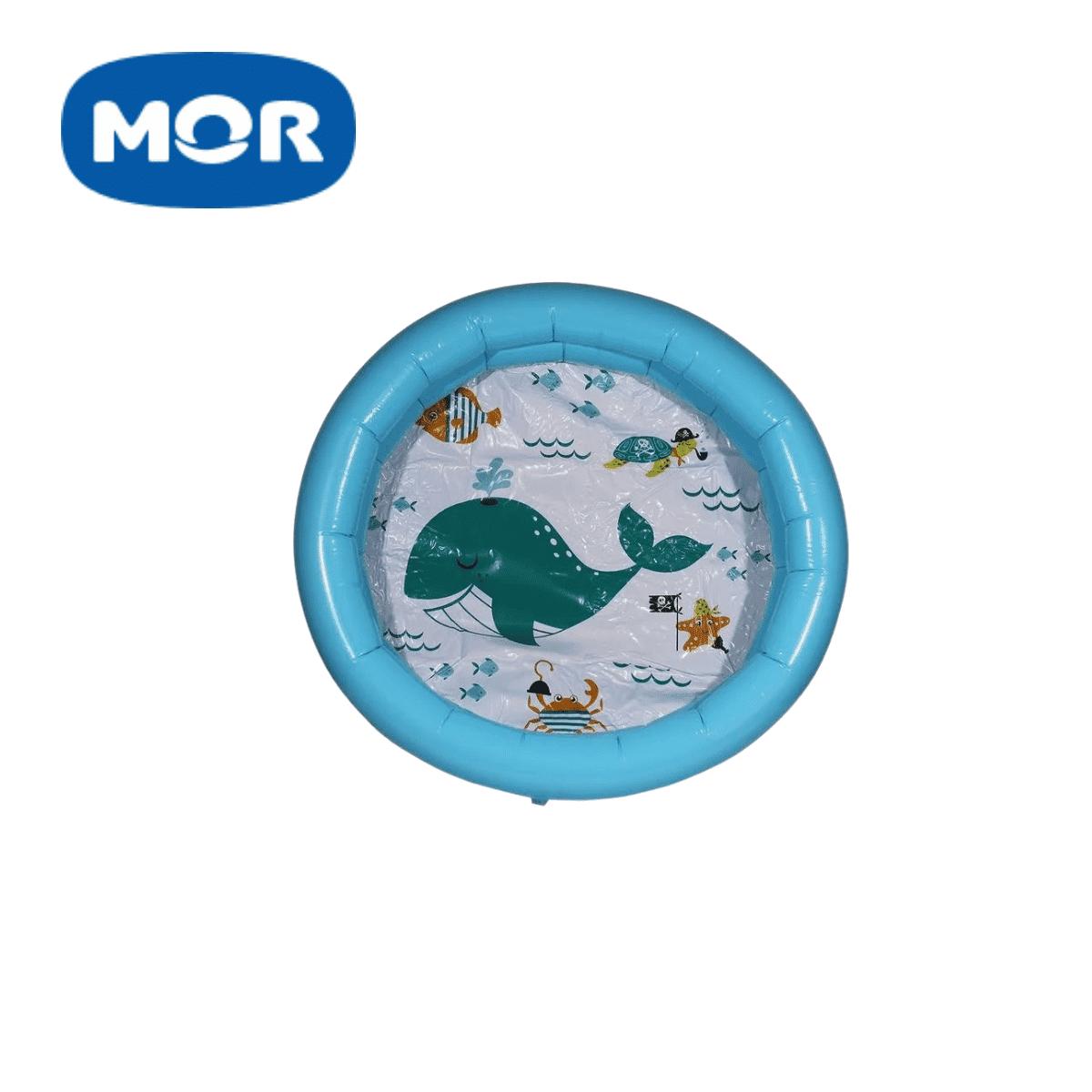 Banheira Piscina Inflável Infantil 28 Litros Azul Mor