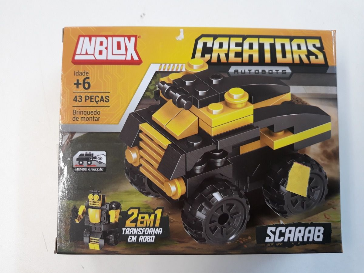 Blocos de Montar Creators Scarab Brinquedo 2 em 1 Transforma Robô Inblox