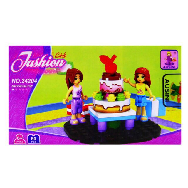 Blocos de montar Fashion Gils 24204 com 60 pçs brinquedo Ausini