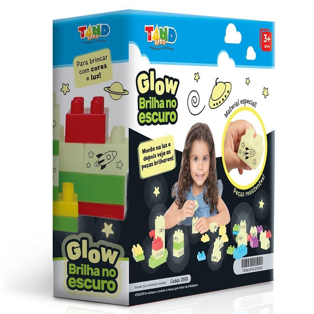 Blocos de Montar Glow Brilha no Escuro 40 Peças Tand Kids