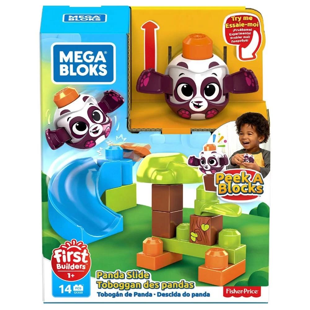 Blocos de Montar Mega Bloks Peek A Blocks Escorregador Fisher Price