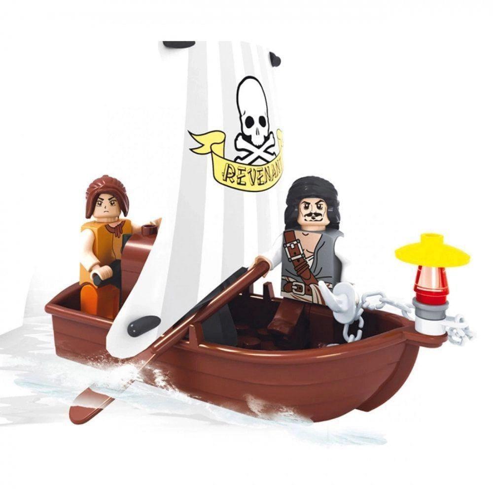 Blocos de Montar Piratas Bote de Fuga 44 pçs Xalingo