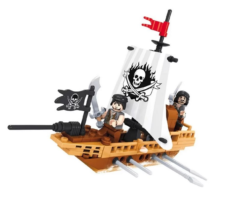 Blocos de Montar Piratas Navio de Batalha 100 Peças Xalingo