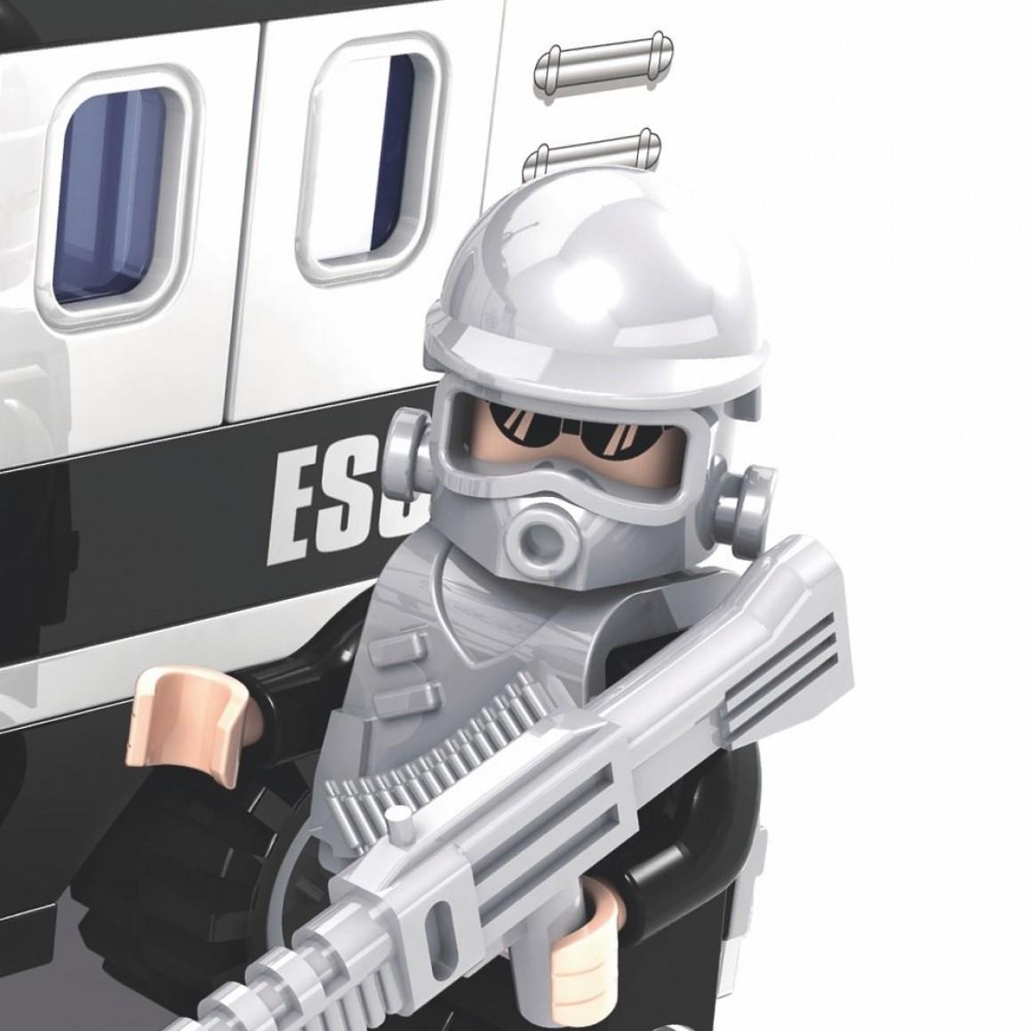 Blocos de Montar Police Defensores da Ordem Escolta Armada 127 Pçs Xalingo