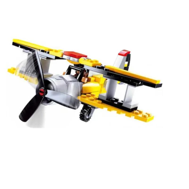 Blocos Para Montar Avião Monomotor De Brinquedo Cidade 120 Peças Xalingo
