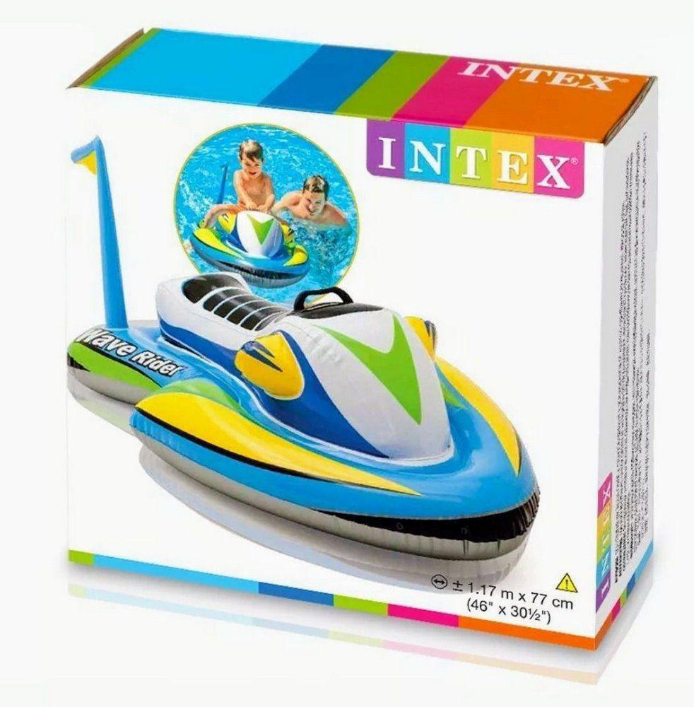 Boia Bote Jet Ski Ondas Infantil Inflável 117x77cm Intex
