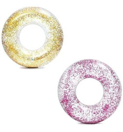 Boia Circular 56cm Transparente com Glitter Art Summer
