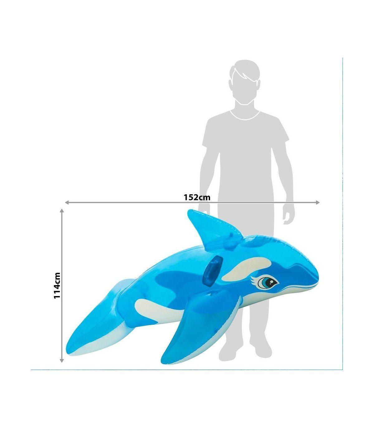 Boia Infantil Inflável Baleia Transparente Intex