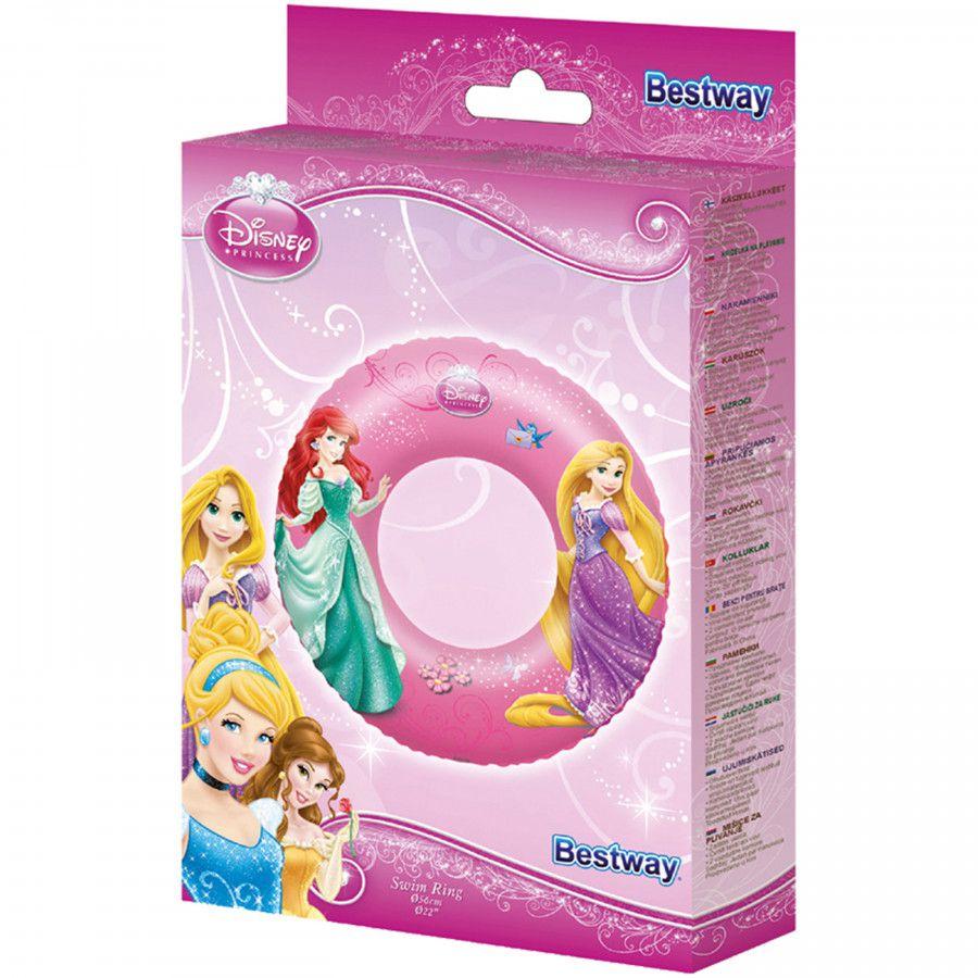 Boia Infantil Inflavel Circular Princesas Disney 56cm Bestway