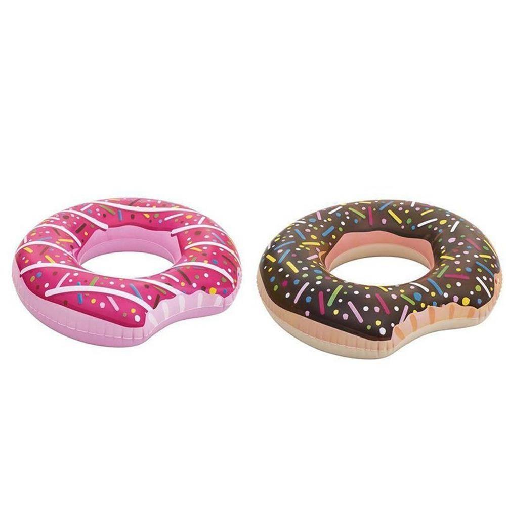 Boia Inflável Donut Tube Rosquinha Mordida Cores Sortidas Mor