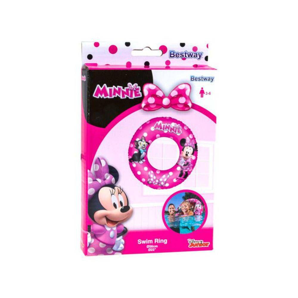 Boia Inflavel Infantil Circular Minnie Disney 56cm Bestway