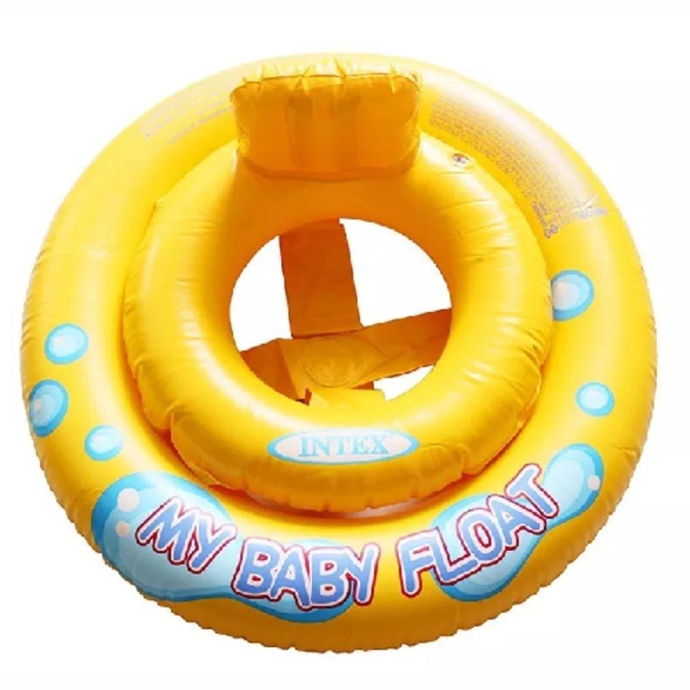 Boia Inflável Infantil My Baby Float Assento em Faixas Intex
