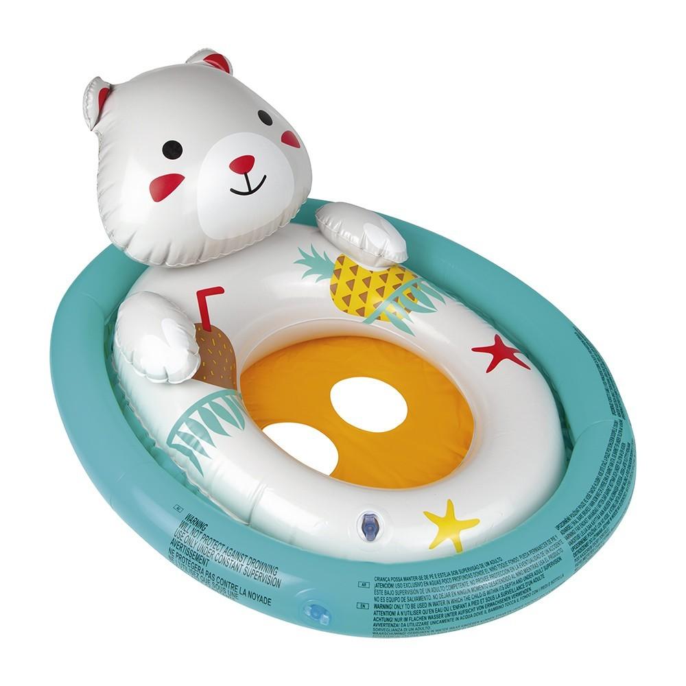 Boia Oval Bichinhos Inflável Infantil com Assento Mor