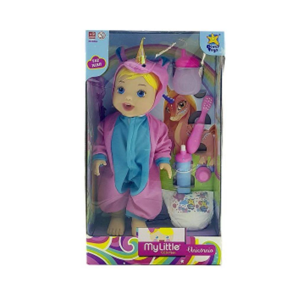 Boneca Unicórnio Faz Xixi My Little Collection Diver Toys