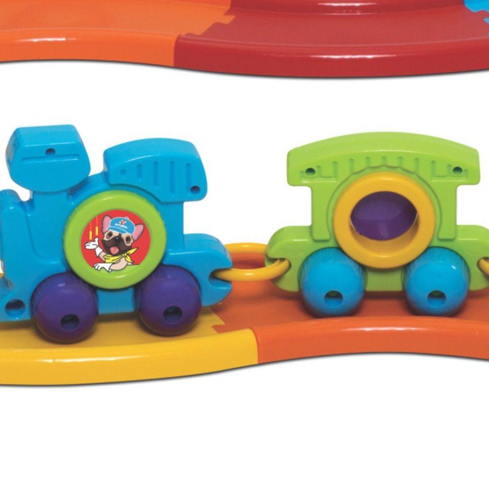 Brinquedo Bebe Babytrain Express Com 12 Trilhos Merco Toys