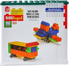 Brinquedo Blocos De Montar Block Legal 86 Peças Homeplay