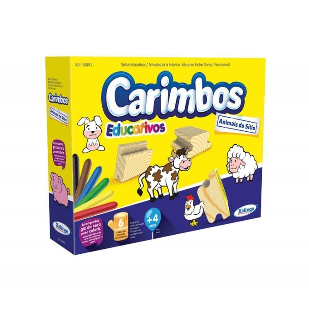 Brinquedo Carimbos Educativos Animais do Sítio Xalingo