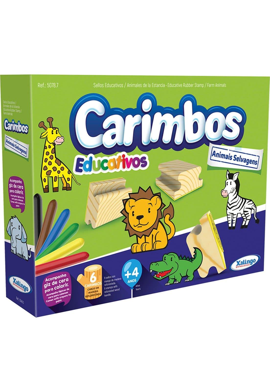Brinquedo Carimbos Educativos Animais Selvagens Xalingo