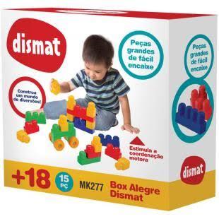 Brinquedo Educativo Box Alegre 15 Pecas Dismat