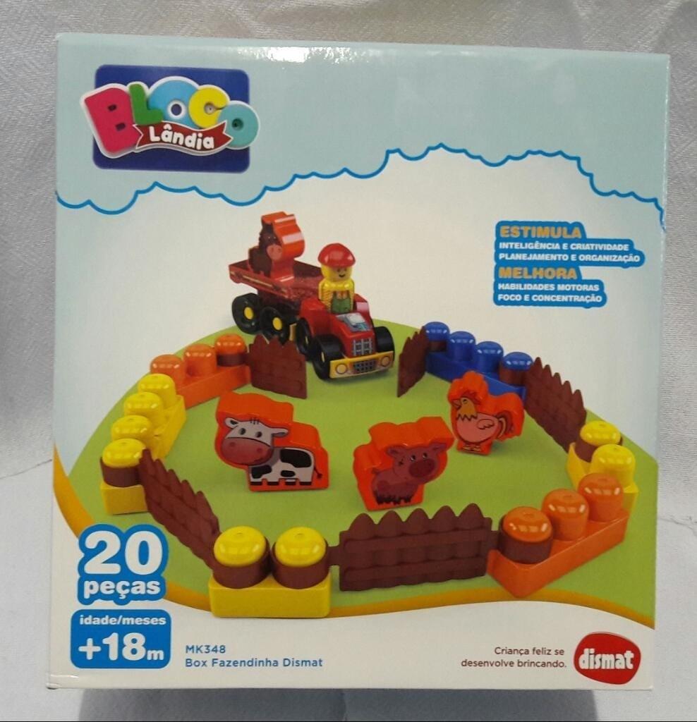Brinquedo Educativo Box Fazendinha 20 Pecas Dismat