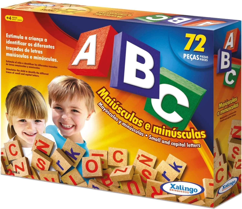 Brinquedo Educativo Brincando com Letras ABC Maiúsculas e Minúsculas Xalingo