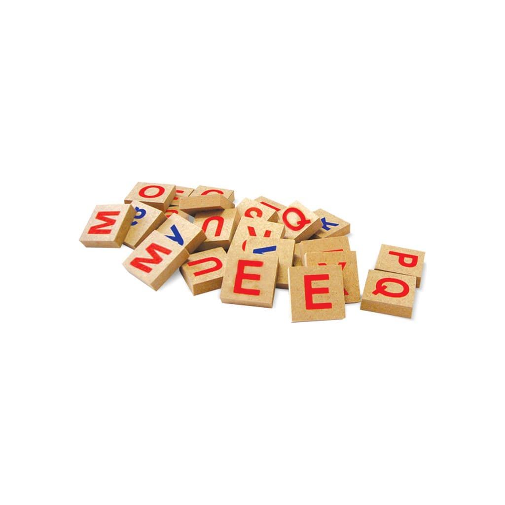 Brinquedo Educativo Brincando com Letras e Números 72 pçs em Madeira Xalingo