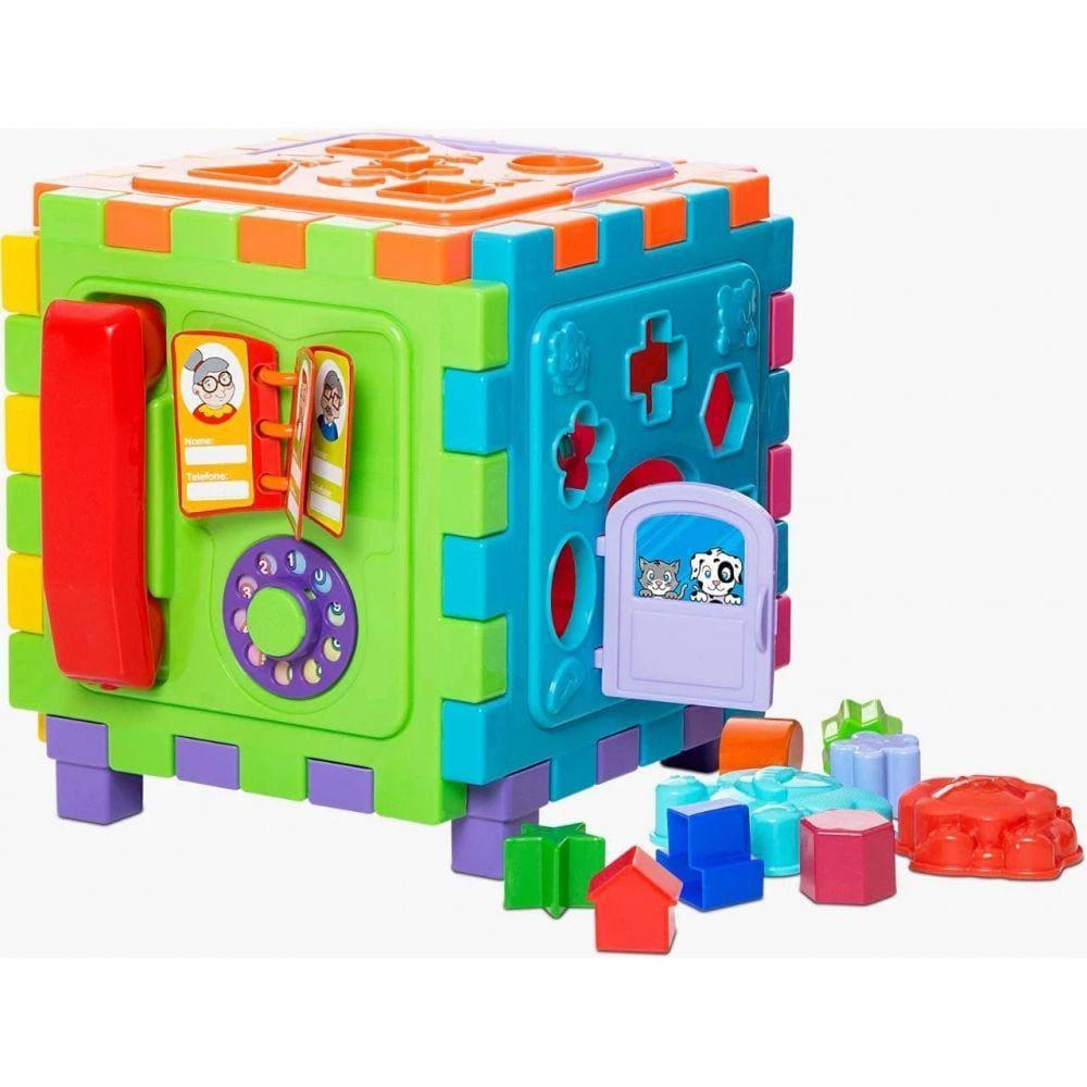 Brinquedo Educativo Cubo Didático Grande Mercotoys