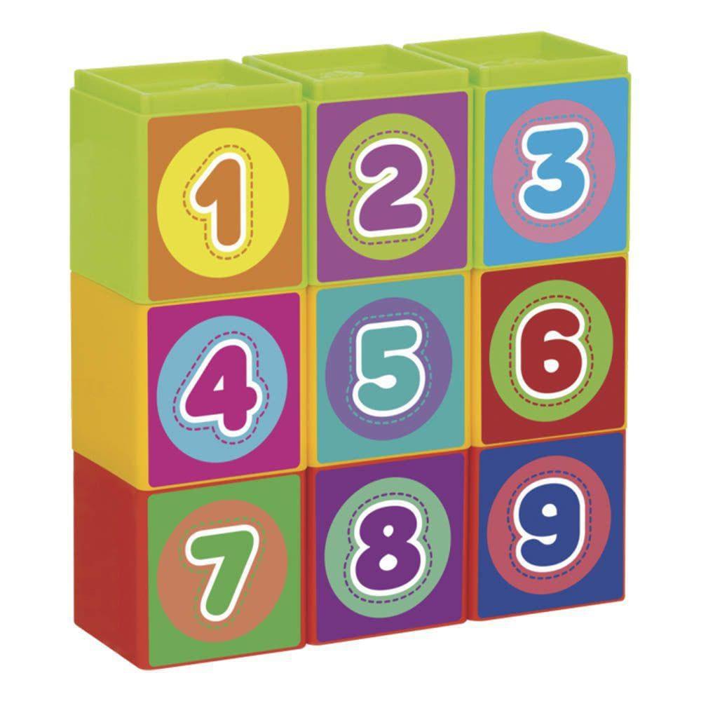 Brinquedo Educativo Infantil Cubinhos 5 em 1 Mercotoys