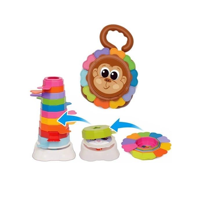 Brinquedo Educativo Infantil Empilha Baby Macaco Mercotoys