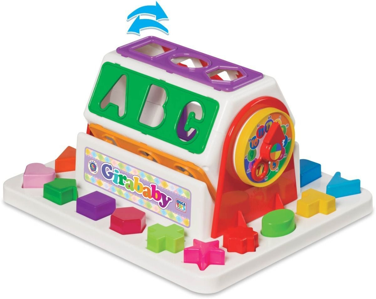 Brinquedo Educativo Para Bebe Girababy Didático Mercotoys