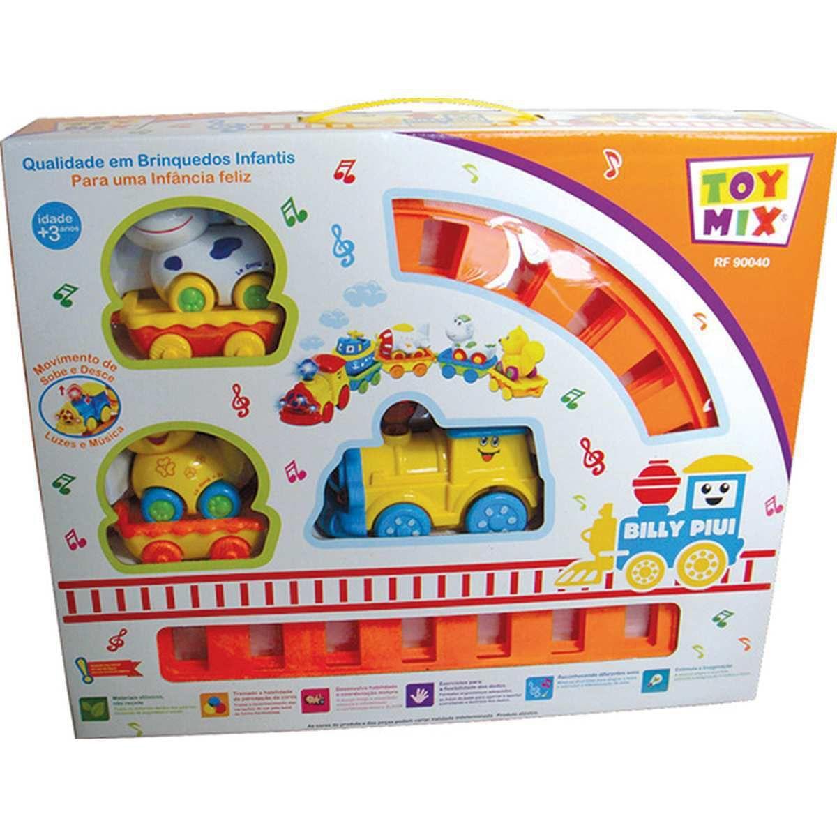Brinquedo Educativo para Bebe Trem Billy Piui Toy Mix