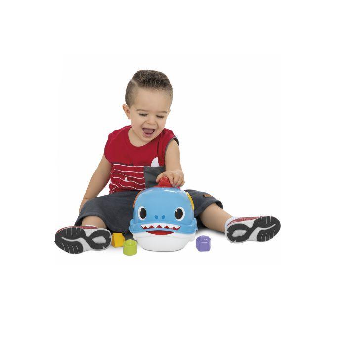 Brinquedo Infantil Bebê Jack Tubarão com Formas Geométricas Merco Toys