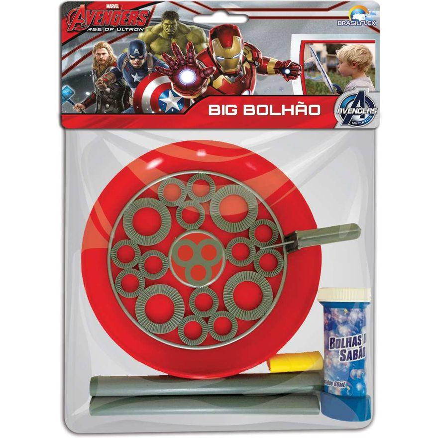 Brinquedo Lança Bolhas de Sabão Big Bolhão The Avengers Brasilflex