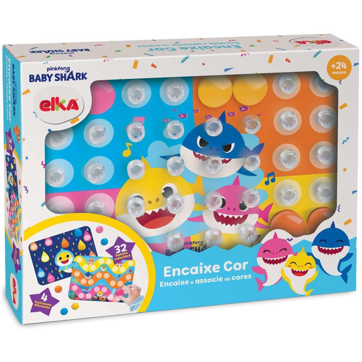 Brinquedo para Bebe Baby Shark Encaixe e Associe as Cores Elka