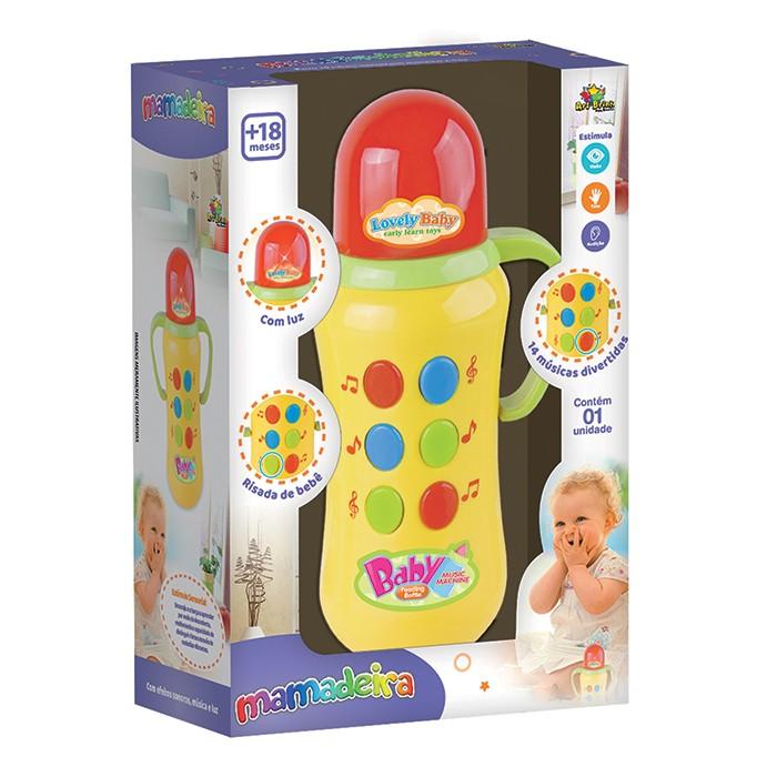 Brinquedo Para Bebê Mamadeira Musical com Luz e Sons Art Brink