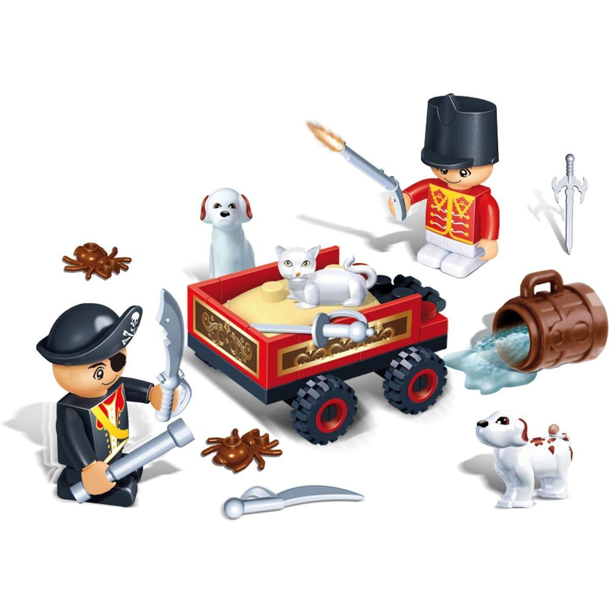 Brinquedo Para Montar Pirates 54 Peças Banbao